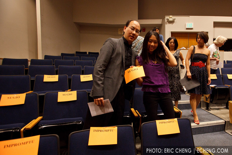 "Ed Wu and Lynn Ngai say, ""Sugio!"" [sic] (SLSQ Summer Chamber Music Seminar 2010)"