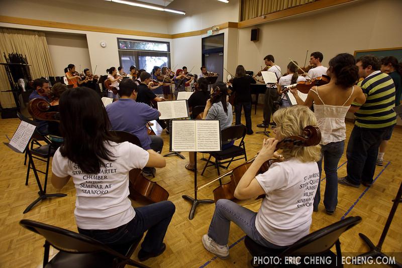 Chamber orchestra reading (SLSQ Summer Chamber Music Seminar 2010)