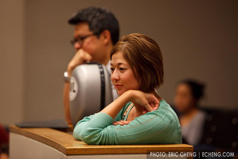 Ivy Zenobi and Ivan Chan at masterclass (SLSQ Summer Chamber Music Seminar 2010)