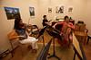 Jessica Seeliger, John Privine and Olivia Tam read Tchaikovsky late at night (SLSQ Summer Chamber Music Seminar 2010)