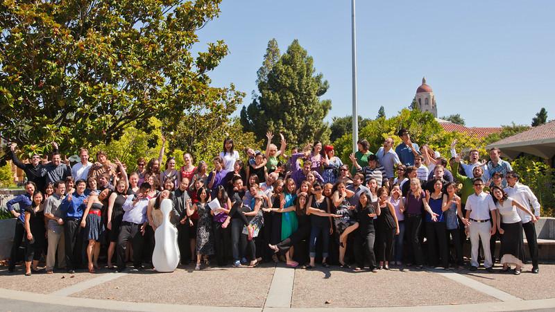 SLSQ Seminar 2010 group photo, crazy version (SLSQ Summer Chamber Music Seminar 2010)