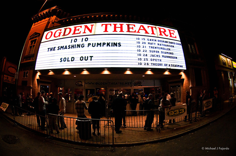Smashing Pumpkins Ogden Theatre  Denver, CO  October 10, 2011