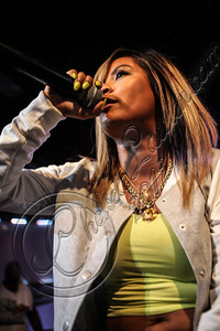HOLLYWOOD, CA - AUGUST 10:  Rapper Honey Cocaine performs at the Sneaker Pimps 10 year anniversary tour at Vanguard on August 10, 2012 in Hollywood, California.  (Photo by Chelsea Lauren/WireImage)