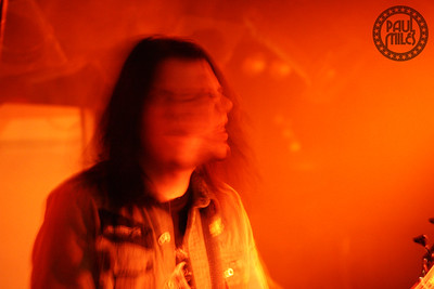 Soil's Tim King looking more like a horror movie scene than a bass player on stage.