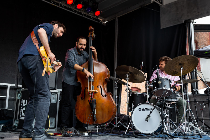 Julian Lage Trio at Solid Sound Festival 2019. Photo by Tony Vasquez for Jams Plus Media.