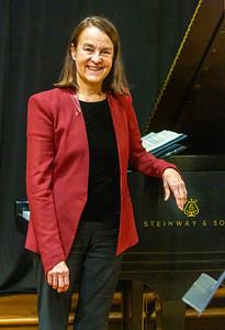 Composer Libby Larsen before the concert