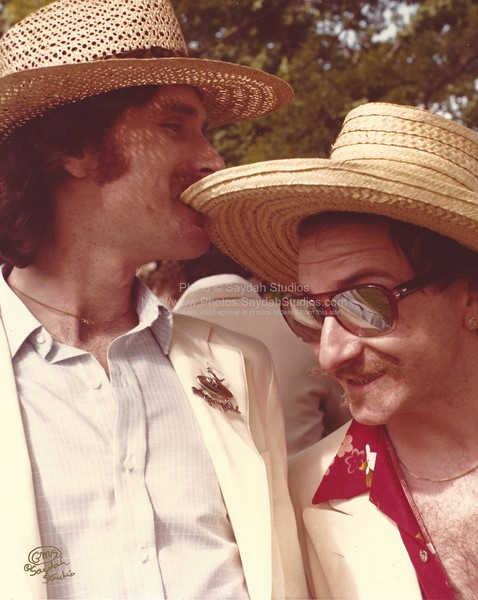 Vinnie Lopez and Paul Whistler at Ken and Carol's wedding, 1980