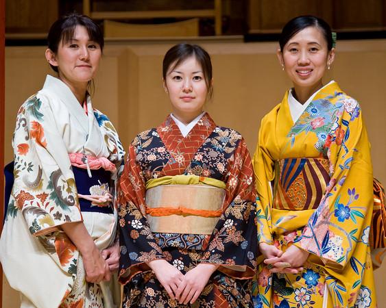 Hatsumi Bryant, Mikiko Fukuda, Mio Cowden (L to R)