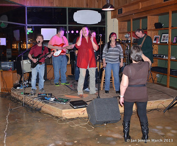 I was already out the door and half way to my car when I heard these gals on stage at Southsider's March 7th jam at Southsiders Public House in Waxhaw, NC.  Sure glad I came back in... they were having a blast!