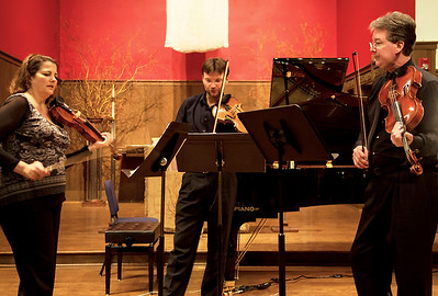 Rehearsing the Koldaly trio