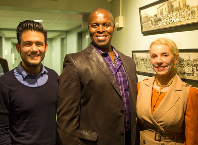 "Aaron Kaufman, Kenneth Gayle, and Marie Bodarge, working for ""Music Doing Good"""