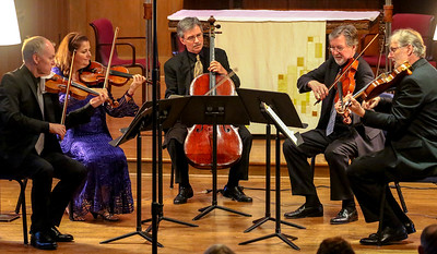 And the concert begins:  Mozart's Viola Quintet in C Major.