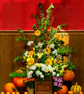 Autumn decoration for the concert