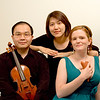 Dennis (violin), Ruby (piano) and Laura (ocarina)<br /> photo by Ruby