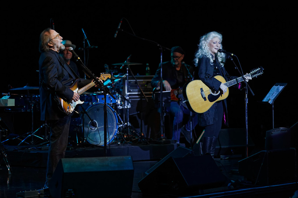 . Stephen Stills & Judy Collins live at DTE Music Theatre on 6-9-2018. Photo credit: Ken Settle
