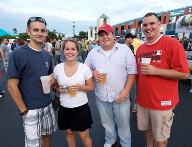 Eric Smith of Reading, Lindsey Grambley of Hyde Park, Tommy Collins of Hyde Park and Chris Asbrock of Mason at PNC Pavilion for Stone Temple Pilots