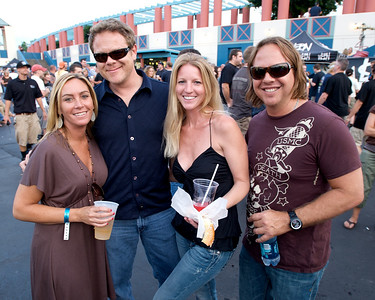 Brandy Snyder and Tim Anderson of N. KY with Candace Sitton and Mike Alzati of Ft. Lauderdale at PNC Pavilion for Stone Temple Pilots