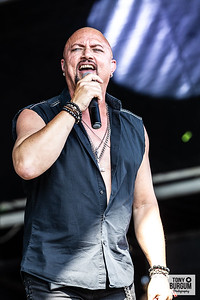 Former Queensryche frontman Geoff Tate and his band play the Tommy Vance stage at Stonedeaf Festival 2019. Featuring Geoff Tate on Vocals, Scott Moughton- Guitar; Bruno Sa- Keyboards; Keiran Robertson- Guitar; Josh Watts -, Drums; Jack Ross-Bass and Emily Tate on vocals.  © Tony Burgum