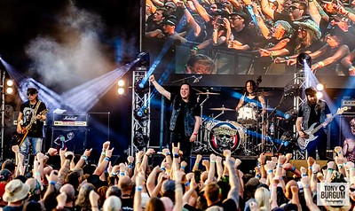 Legendary  former Motorhead Guitarist Phil Campbell and his band playing the Tommy Vance stage at Stonedeaf festival 2019. Featuring Phil Campbell - Guitars, Todd Campbell - Guitar & Harmonica, Dane Campbell - Drums, Tyla Campbell - Bass, Neil Starr - Vocals and Romesh Dodangoda - Drums & Keyboards  © Tony Burgum