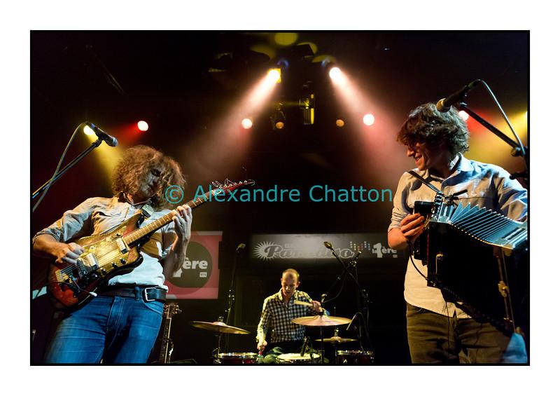 4 octobre 2012: le groupe genevois Mama Rosin en Session Paradiso au Studio 15 de la RTS à Lausanne.