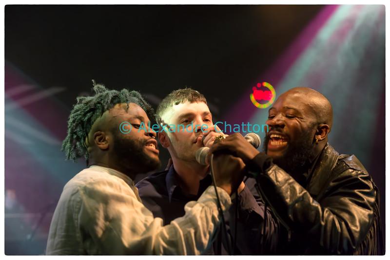 "Young Fathers et Larytta dans ""pl3in le poste LIVE"""
