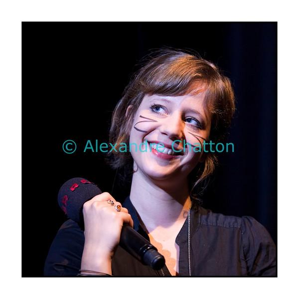 Lundi 19 septembre 2011: la Bâloise Anna Aaron en Session Paradiso en direct et en public du Studio 15 de la RTS à Lausanne.