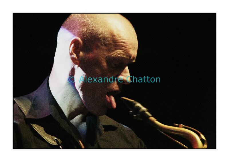 Scott Dubois Quartet en Espace JazzZ au Studio 15 de la RSR à Lausanne le 18 mai 2007. Ici, le saxophoniste allemand Gebhard Ullmann.