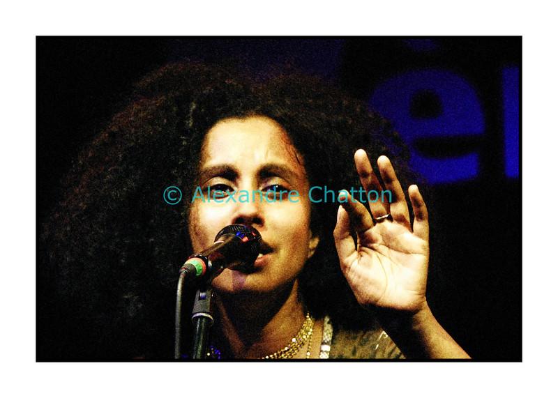 Susheela Raman en Session Paradiso au studio 15 de la RSR à Lausanne le 23 novembre 2005