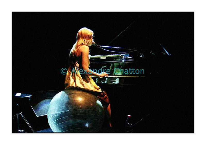 An Pierlé en Session Paradiso au studio 15 de la RSR à Lausanne le 7 septembre 2006