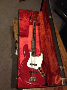 Stephen Tecci @ Entourage Studio, North Hollywood, CA. The 1966 Fender Jazz used during the session.