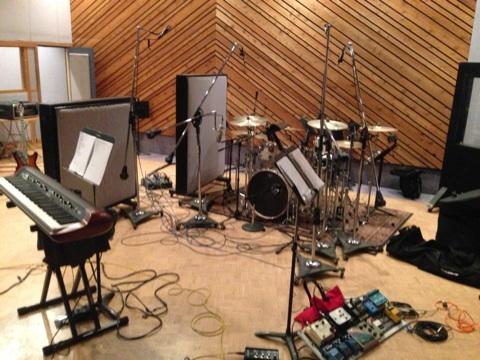 The Disparrows set up @ Entourage Studio, North Hollywood, CA