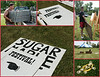 On Friday morning, August 1st volunteers set up for the 11th Annual Sugar Maple Traditional Music Festival