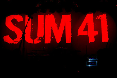 Sum 41, 1/12/2013, The Regency Ballroom, San Francisco
