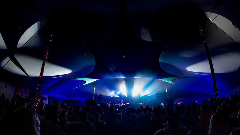 Aqueous in the VIP Tent at Summer Camp Music Festival 2019. Photo by Tony Vasquez