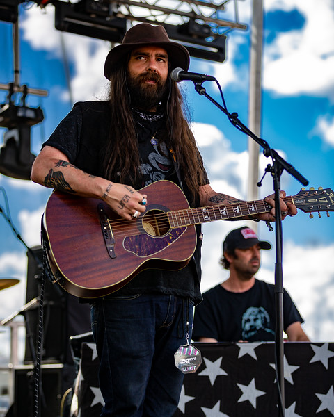 Arlo McKinley & The Lonesome Sound on the Campfire Stage at Summer Camp Music Festival 2019. Photo by  Tony Vasquez