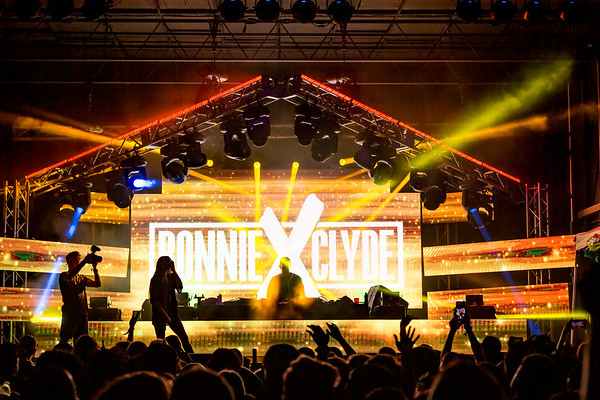 Bonnie X Clyde on the Starshine Stage at Summer Camp Music Festival 2019. Photo by Tony Vasquez