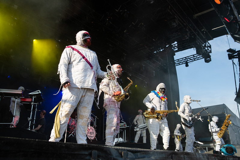 Here Come The Mummies on the Sunshine Stage at Summer Camp Music Festival 2019. Photo by Tony Vasquez