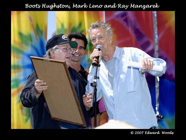 Boots Hughston, Mark Leno and Ray Manzarek