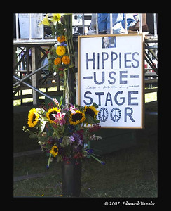 Hippies Use Stage Door