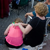 playing air piano on her daughter's back!