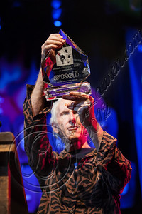 WEST HOLLYWOOD, CA - AUGUST 16:  Guitarist Robby Krieger of The Doors receives an award at the 5th Annual Sunset Strip Music Festival launch with a celebration of The Doors at House of Blues Sunset Strip on August 16, 2012 in West Hollywood, California.  (Photo by Chelsea Lauren/WireImage)
