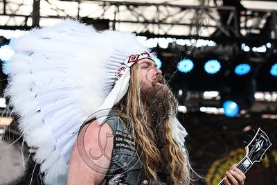 WEST HOLLYWOOD, CA - AUGUST 18:  Vocalist / guitarist Zakk Wylde of Black Label Society performs on day 3 of the Sunset Strip Music Festival on August 18, 2012 in West Hollywood, California.  (Photo by Chelsea Lauren/WireImage)