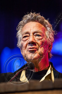 WEST HOLLYWOOD, CA - AUGUST 16:  Keyboardist Ray Manzarek of The Doors speaks at the 5th Annual Sunset Strip Music Festival launch with a celebration of The Doors at House of Blues Sunset Strip on August 16, 2012 in West Hollywood, California.  (Photo by Chelsea Lauren/WireImage)