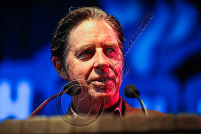 WEST HOLLYWOOD, CA - AUGUST 16:  Musician John Doe speaks at the 5th Annual Sunset Strip Music Festival launch with a celebration of The Doors at House of Blues Sunset Strip on August 16, 2012 in West Hollywood, California.  (Photo by Chelsea Lauren/WireImage)