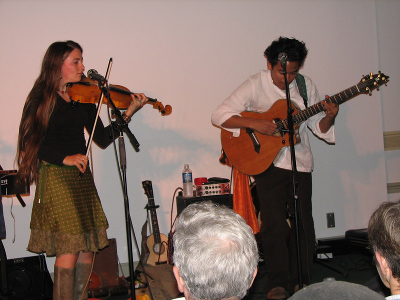 Morwenna Lasko and Jay Pun--these two play original music that's mostly modern with a pinch of traditional.