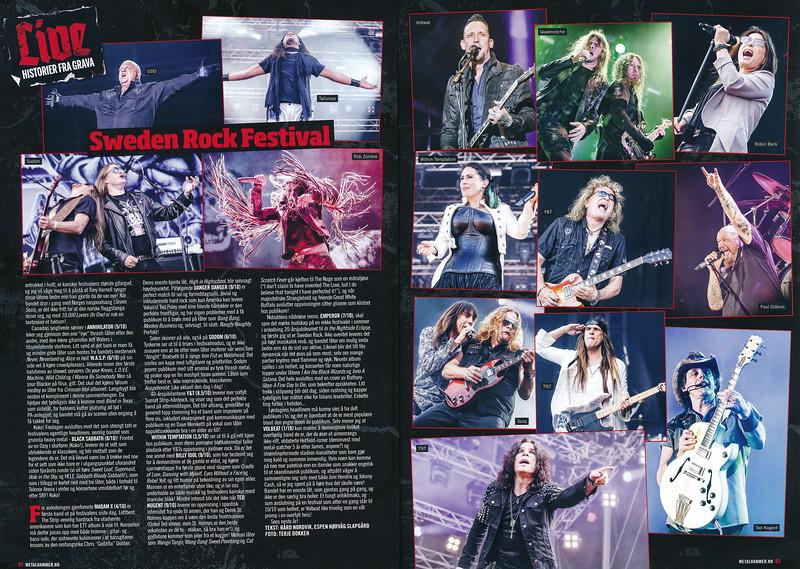 Metal Hammer Norway #6/2014. Sweden Rock Festival