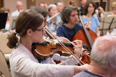 Rachel Hewitt -- Symphony of the Potomac rehearsal, May 2014