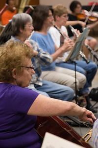 Carol Newman -- Symphony of the Potomac rehearsal, May 2014