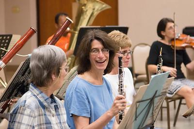 Susan Herlick with Barbara Stuckey and Judy Gadol -- Symphony of the Potomac rehearsal, May 2014