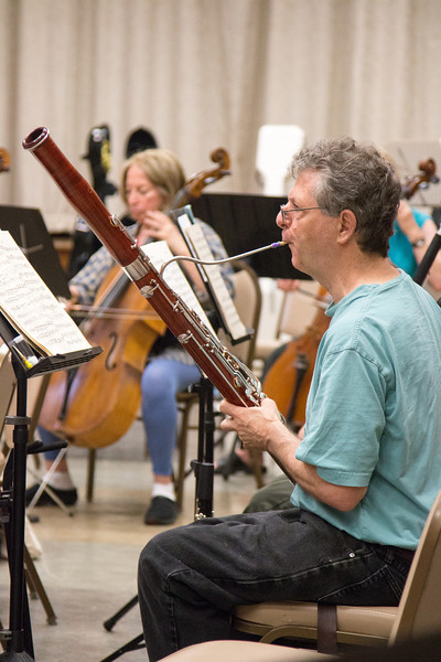 Don Loomis -- Symphony of the Potomac rehearsal, May 2014